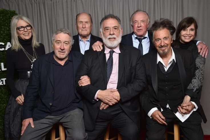 Diane Keaton (from l.), Robert De Niro, Robert Duvall, Francis Ford Coppola, James Caan, Al Pacino and Talia Shire reunited at the Tribeca Film Festival.