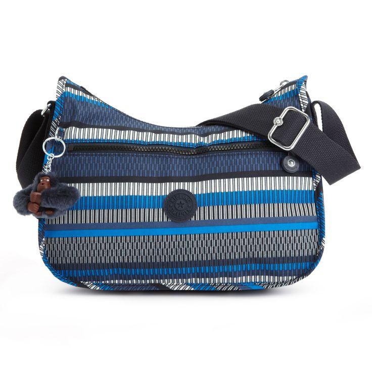 Sara Jane Printed Crossbody Bag in Woven Stripe Blue Print..  Love kipling bags