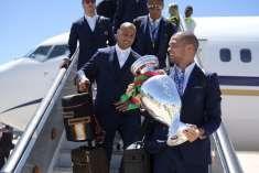 Campeões voltaram Seleção Nacional aterrou em Lisboa ao início da tarde desta…