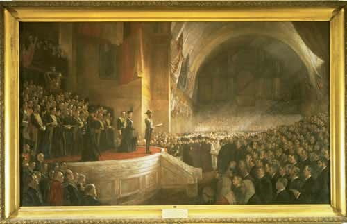 Tom Roberts - 'The Opening of the First Parliament of the Commonwealth of Australia, May 9, 1901, by H.R.H. The Duke of Cornwall and York