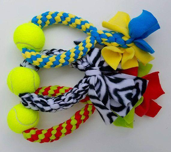Large Round Fleece Dog Toy W Tennis Ball Diy Dog Toys Dog Toys