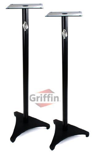 Studio Monitor Speaker Stands Home Audio Theater Surround Sound TV Floor Pair Recording Satellite Griffin by Griffin Stands. $48.95. Make everyone in your family happy by purchasing these heavy duty studio speaker stands! Your wife will appreciate the eye-pleasing aesthetic of these satellite speaker stands over those cheap cement blocks you used in college to support your amazing surround sound TV speakers. Make yourself happy at the same time knowing you will receive TWO of the...