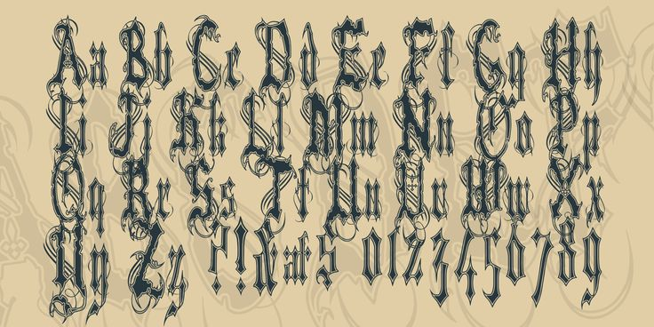 Влад Цепеш II (папа Vlads) шрифта · 1001 шрифты