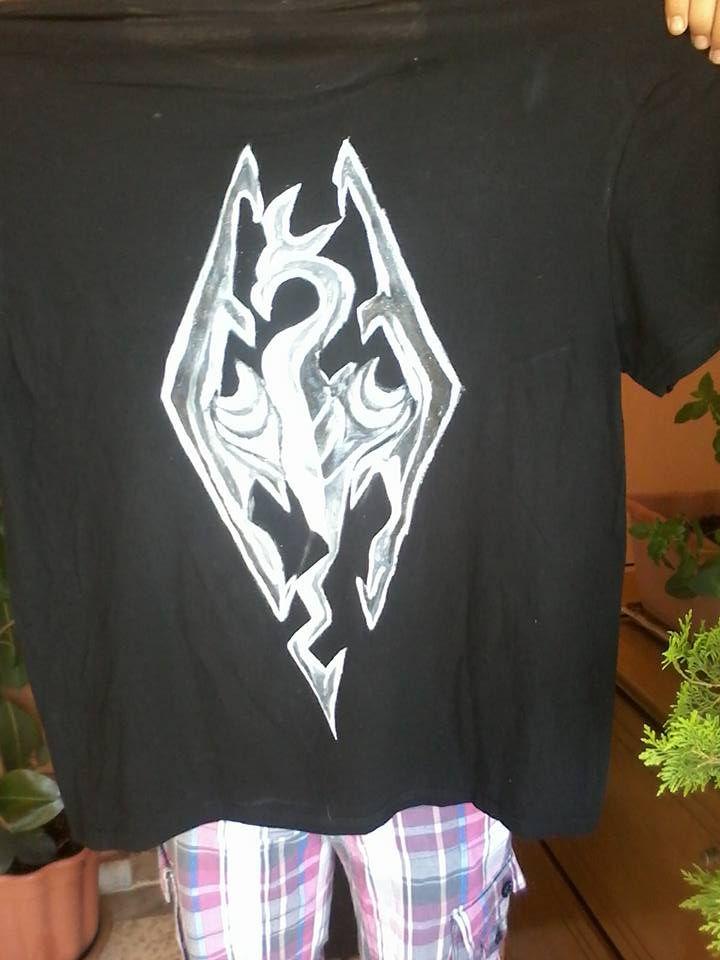 handpainted t shirt skyrim.https://www.facebook.com/pages/Anastasias-art-gallery/334822676627889?fref=ts