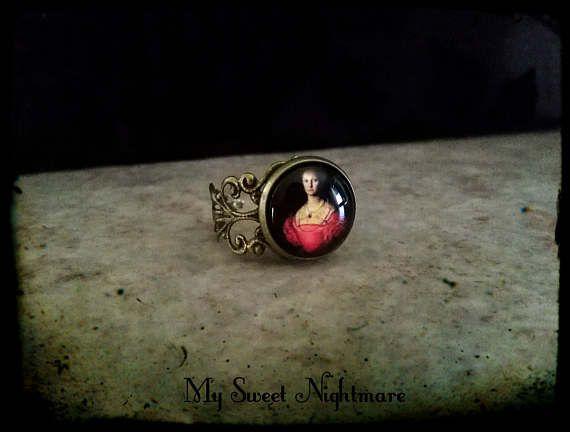 Elizabeth Bathory ring adjustable  gothic anello regolabile