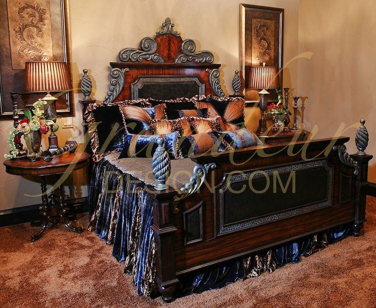 Bedroom - #Tuscan #Home #Design - Find More Decor Ideas at:  http://www.IrvineHomeBlog.com/HomeDecor/  ༺༺  ℭƘ ༻༻   and Pinterest Boards    - Christina Khandan - Irvine, California