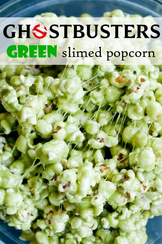 Who are your friends gonna call for the perfect Halloween party treat? You and your Ghostbusters Green Slimed Popcorn!