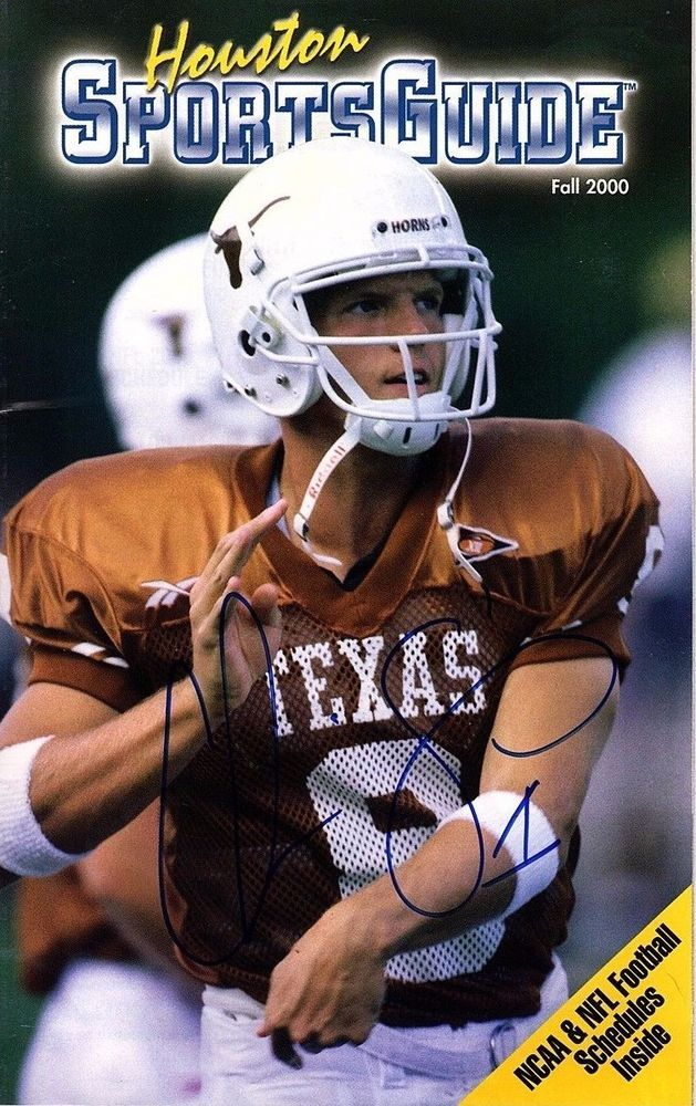 CHRIS SIMMS Signed Sports Guide 2000 TEXAS LONGHORNS