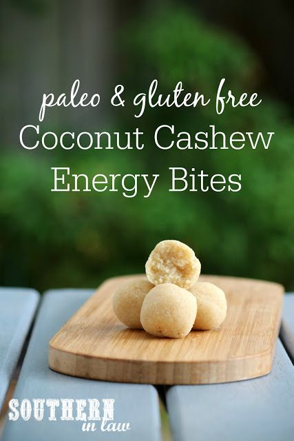Perfect for taking to school or work, this Coconut Cashew Cookie Dough Bites Recipe is healthy AND delicious! These energy bites are also gluten free, refined sugar free, clean eating friendly, peanut free, egg free, dairy free, paleo, grain free and are made with just three ingredients.