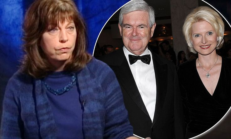 Newt Gingrich's ex-wife Marianne (left) revealed for the first time that he had asked her to share him with then mistress Callista (right). Network chiefs were said to be nervous about showing the explosive interview before the South Carolina primary.