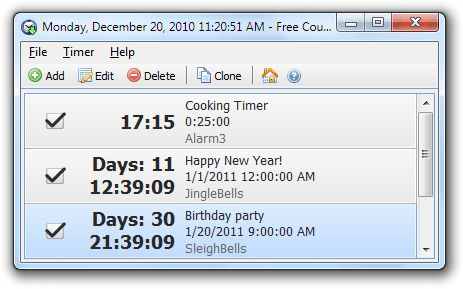 Free Countdown Timer is a free, full-featured and user-friendly countdown timer for Windows.