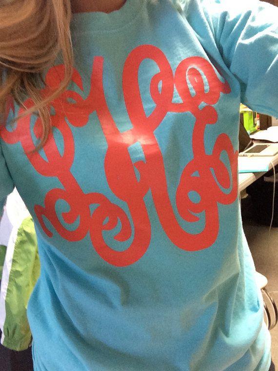 Monogrammed Tee Shirt by hadleyandfinn on Etsy