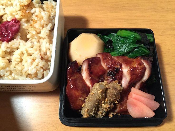 鳥味噌漬焼、生姜甘酢、叩き牛蒡、里芋たいたん、小松菜磯和え、すぐき