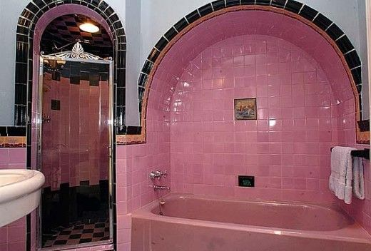 enchanting pink ceiling bathrooms | 1000+ images about vintage 1930/1940/1950 bath's on Pinterest