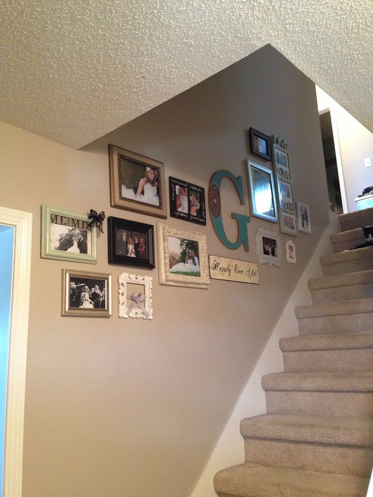 Picture Wall Going Up The Stairs Staircase Wall Decor