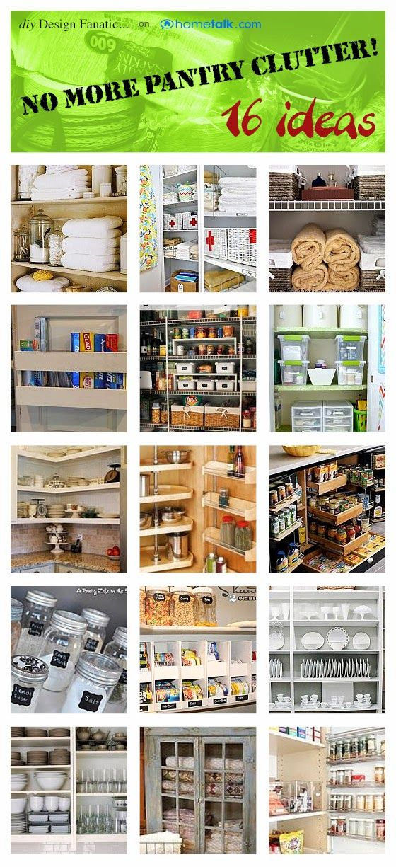 diy design fanatic 16 ideas for de cluttering your pantries and cabinets - Diy Kitchen Pantry Ideas