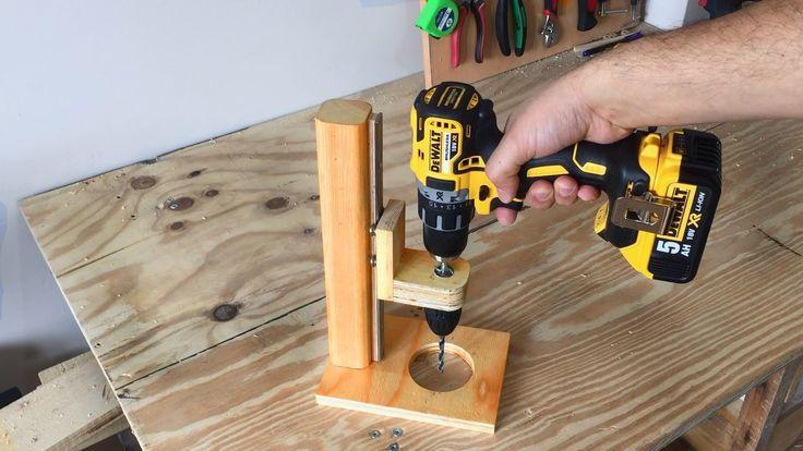 Making a Mobile Drill Press (Drill Guide) - El Yapımı Matkap Kılavuzu - YouTube