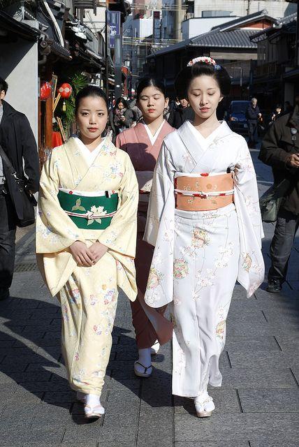 geiko Ayano, Fukushima okiya's shikomi and maiko Fumino