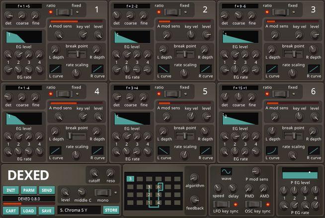 Freeware FM Synthesizer DEXED