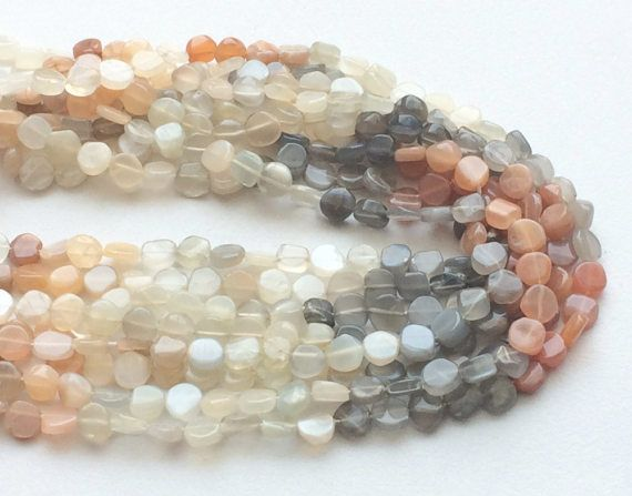 WHOLESALE 5 Strands Multi Moonstone Plain Rough by gemsforjewels