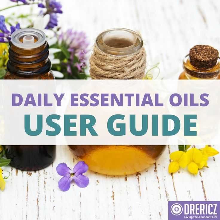 Want to use essential oils, but don't know where to start? Check out our Daily Daily Essential Oils User Guide to get some ideas!