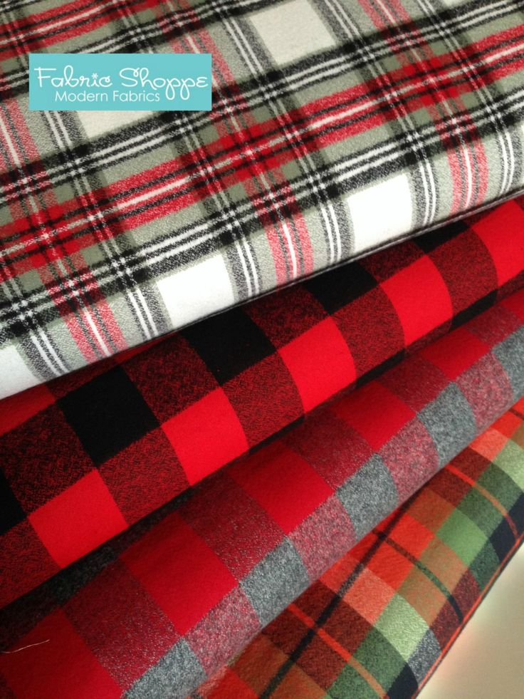 Flannel fabric bundle, Plaid flannel, Red Plaid, Red Fabric, Gray fabric, Lumberjack, Apparel fabric, Kaufman, Bundle of 4, Choose the cut by FabricShoppe on Etsy