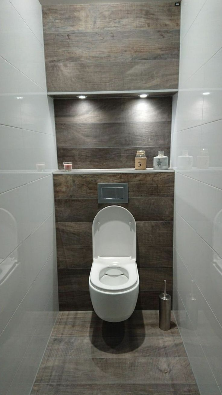 Dieses Gaste Wc Wurde Mit Weissen Und Fliesen In Steinoptik Gestaltet Alexa Alexa Dieses Fliesen Gaste G Badezimmer Badezimmerideen Gaste Wc Ideen
