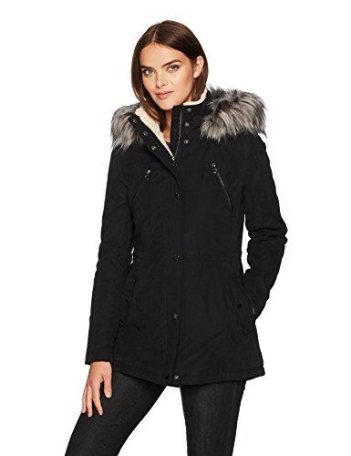"""Microfiber anorak parka with removable faux fur hood strip and sherpa lined hood and collar       Famous Words of Inspiration...""""If he's so smart, how come he's dead?""""   Homer Simpson — Click here for more from Homer...  More details at https://jackets-lovers.bestselleroutlets.com/ladies-coats-jackets-vests/down-parkas/parkas/product-review-for-nautica-womens-micro-fiber-parka-anorak-with-hood/"""