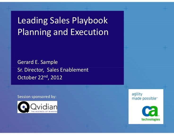 9 best marketing sales playbooks images on pinterest entrepreneur leading sales playbook planning and execution cheaphphosting Gallery