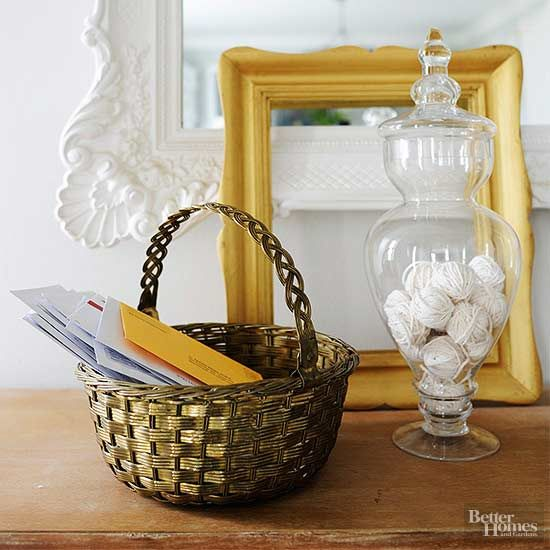 Make a cute storage basket with less than a yard of fabric!