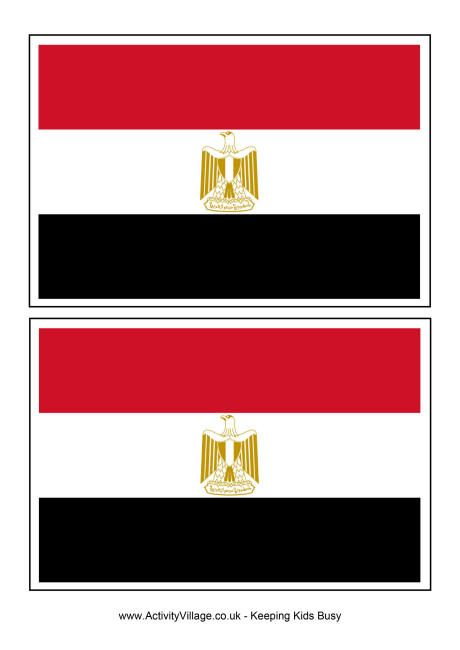 Egypt flag printable for World Thinking Day