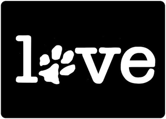 Puppy Love: Decals Paw, Pet Dogs, I Love My Dogs, Dogs Lovers, Cars Stickers, Paw Prints, Dogs Decals, I Love Dogs, Animal