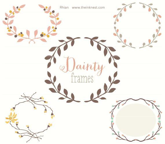 Dainty frames clip art