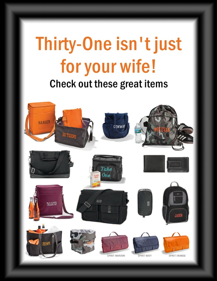 It's not just for the women anymore! :) Thirty-one Gifts gifting ideas for men! www.mythirtyone.com/krjackson