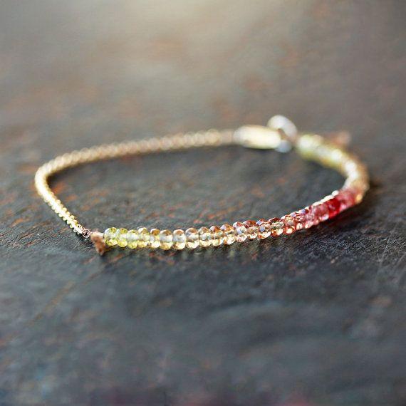 SAFRAN tableau saphir Bracelet pierres par ShopClementine sur Etsy