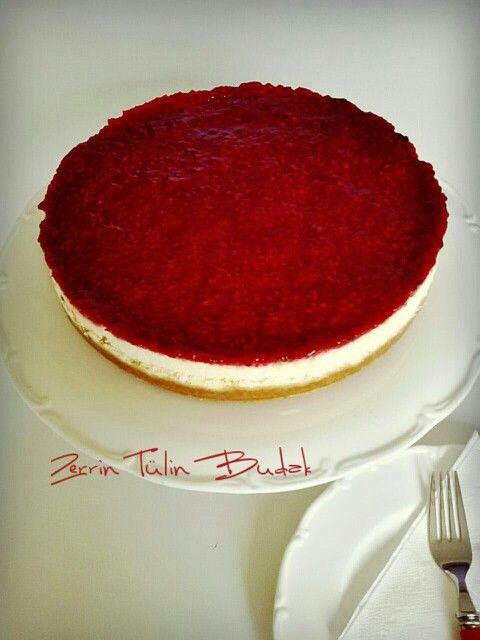 raspberry cheesecake, frambuazlı cheesecake