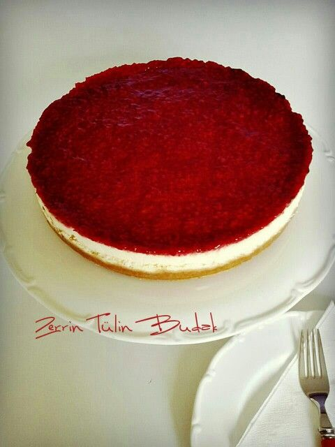 raspberry cheesecake, frambuazlı cheesecake
