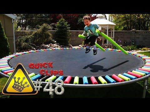 Cover Trampoline Springs with Pool Noodles