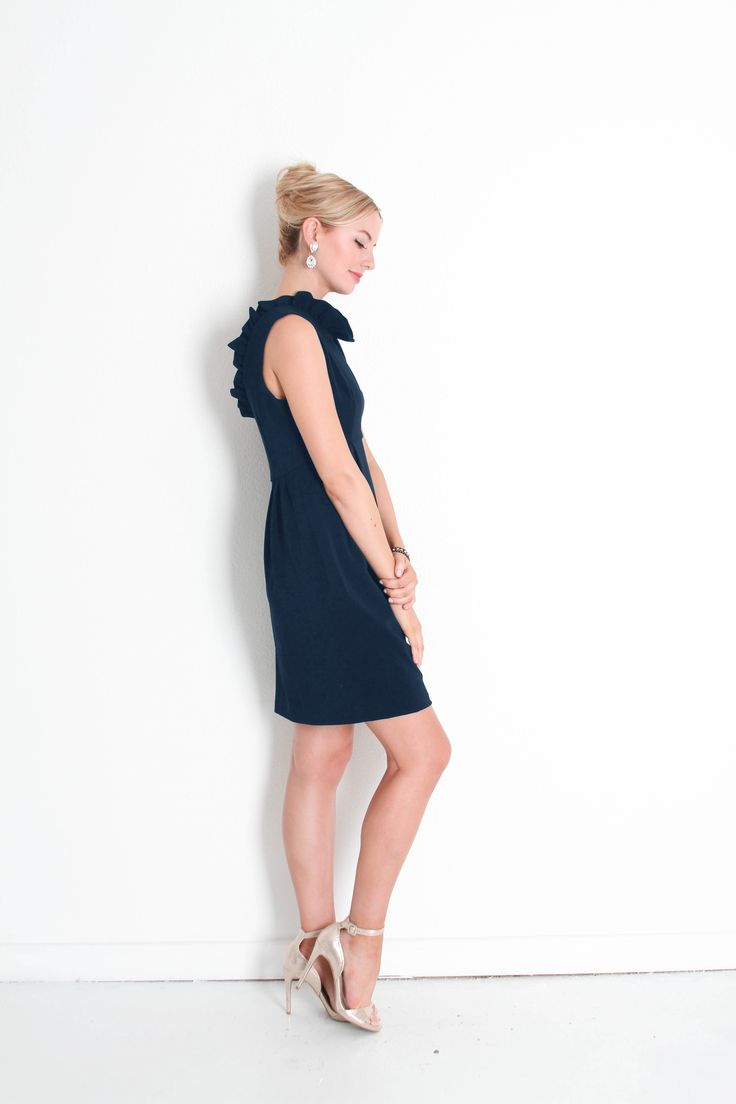 Wal g wrap detail dress with metallic stripe in blue navy lyst - The Go Go Dress In Navy