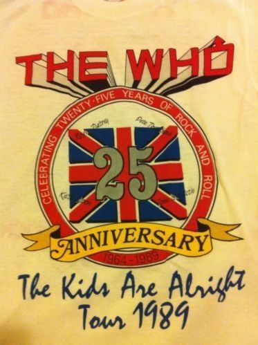 VintageThe Who 1989 The Kids Are Alright Tour Shirt /med. Mint , True Vintage  | eBay