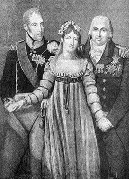 Marie-Thérèse Charlotte and her uncles, Louis Stanislas Xavier (the comte de Provence) and Charles Philippe (the comte d'Artois)