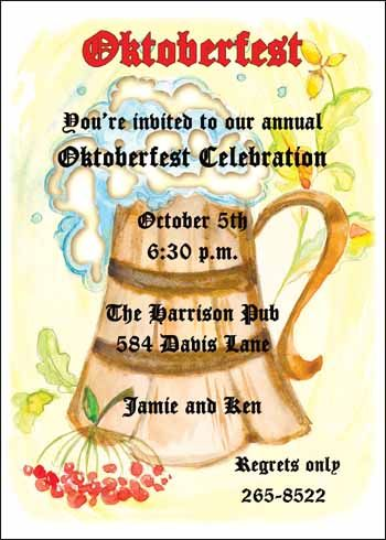 41 Best Oktoberfest Invitations Images On Pinterest Parties