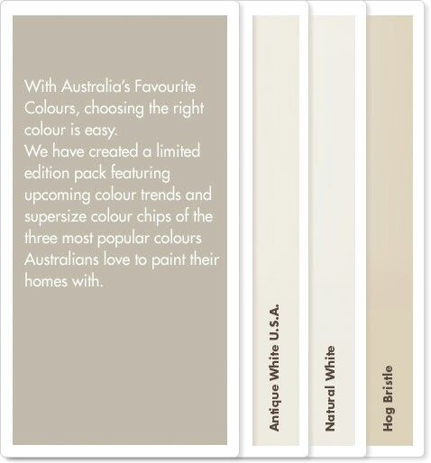 Neutral paint colour combination