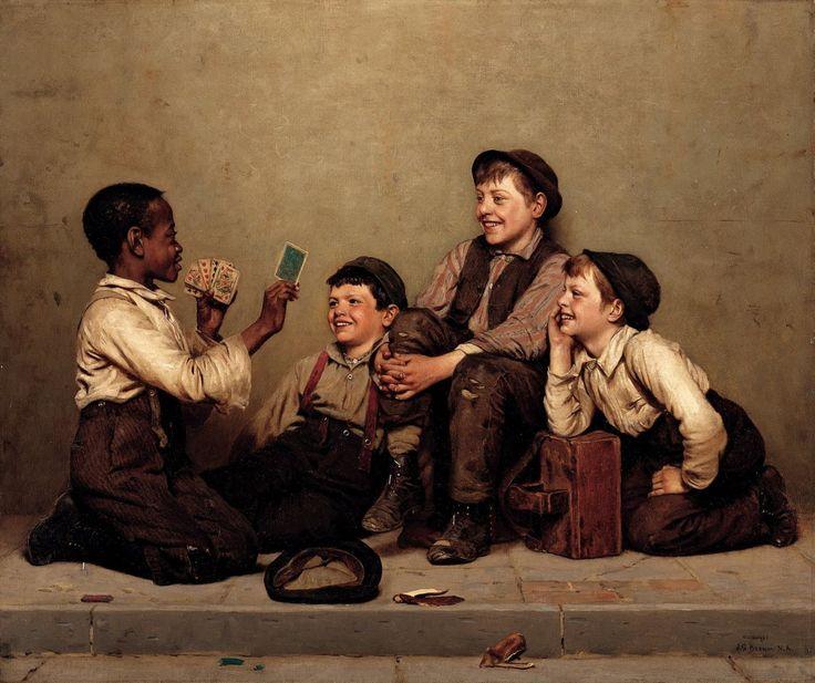 John George Brown  The Card Trick, 1880–89