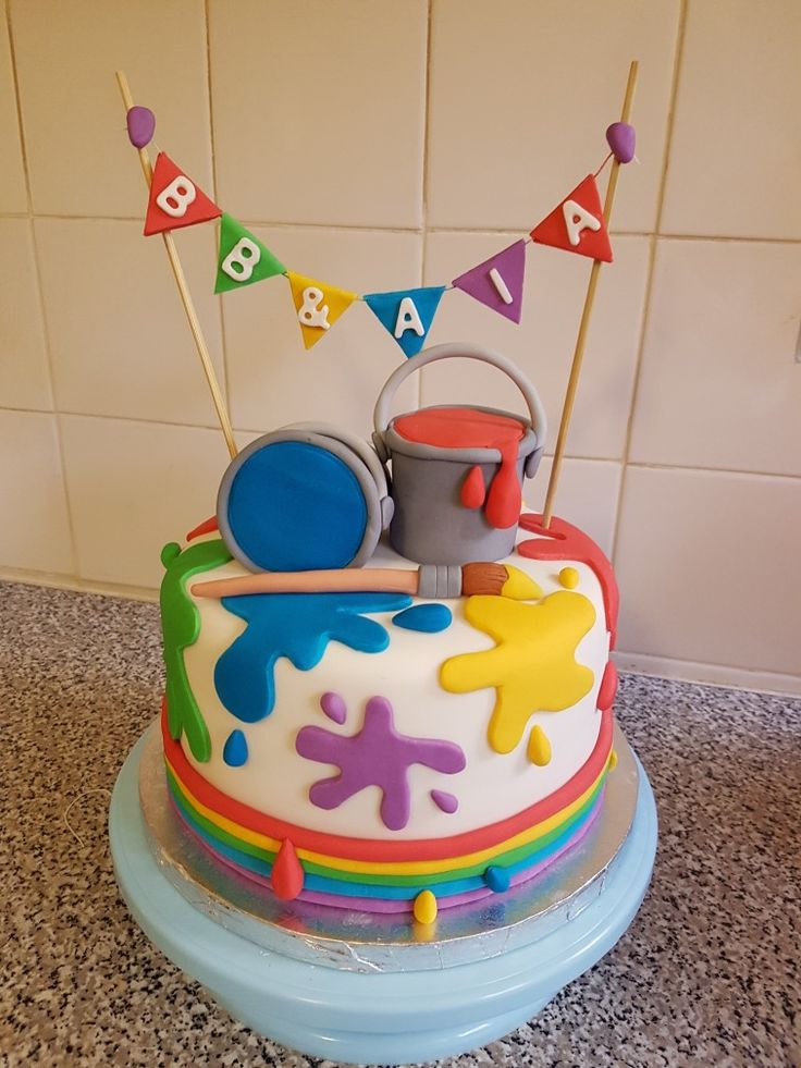 Paintsplash cake