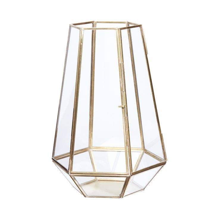 Brass and glass lantern. Product number: 670336 - Designed by Hübsch