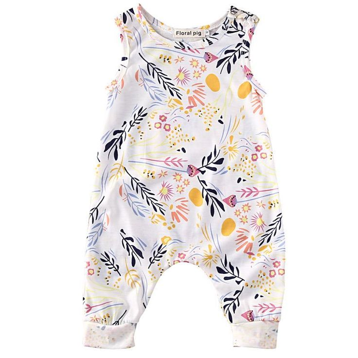 - Baby Girl - Romper - Sleeveless - Long Pant Length Free Shipping! Please allow 2-4 weeks for delivery.