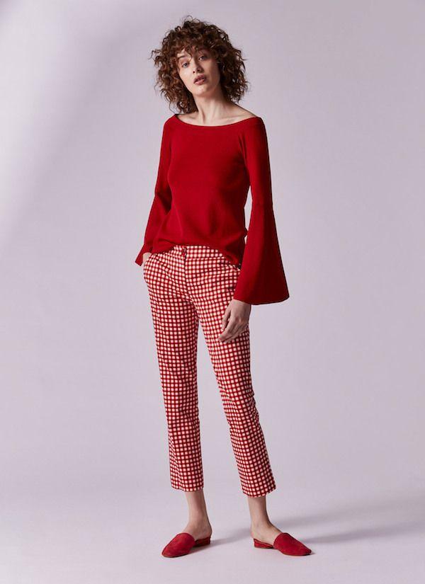 Vestido rojo adolfo dominguez 2019