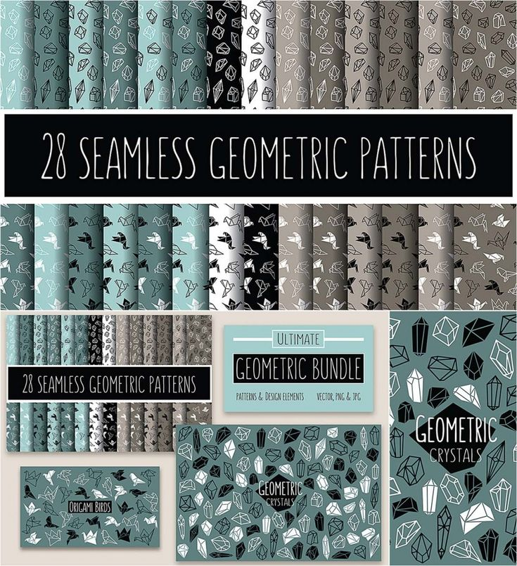 Description: Set of 170 geometric design elements and seamless patterns. Free for download. File format: .jpg, .png, .eps, .ai for Photoshop and other software. File size: 163 Mb.