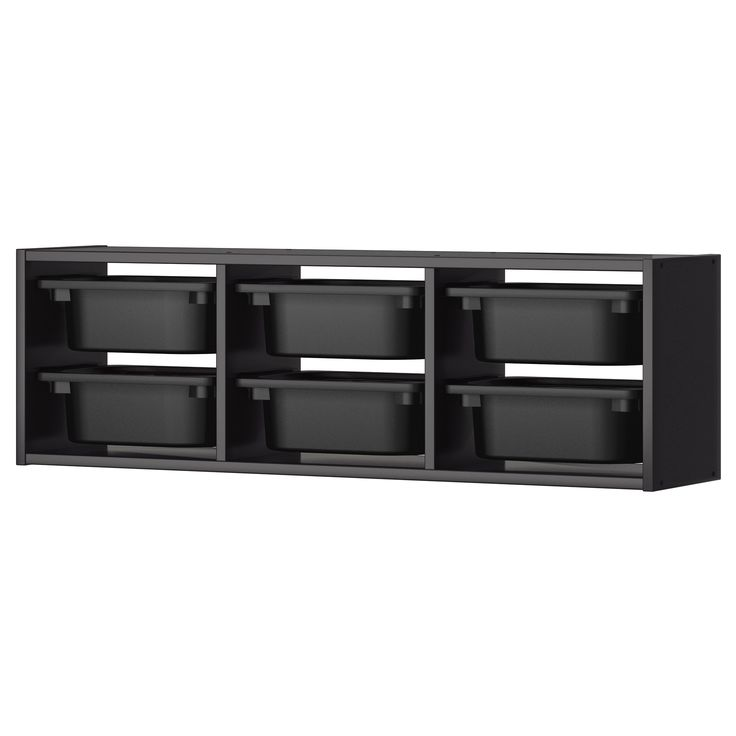 Trofast wall storage black them toys and we - Toy shelves ikea ...
